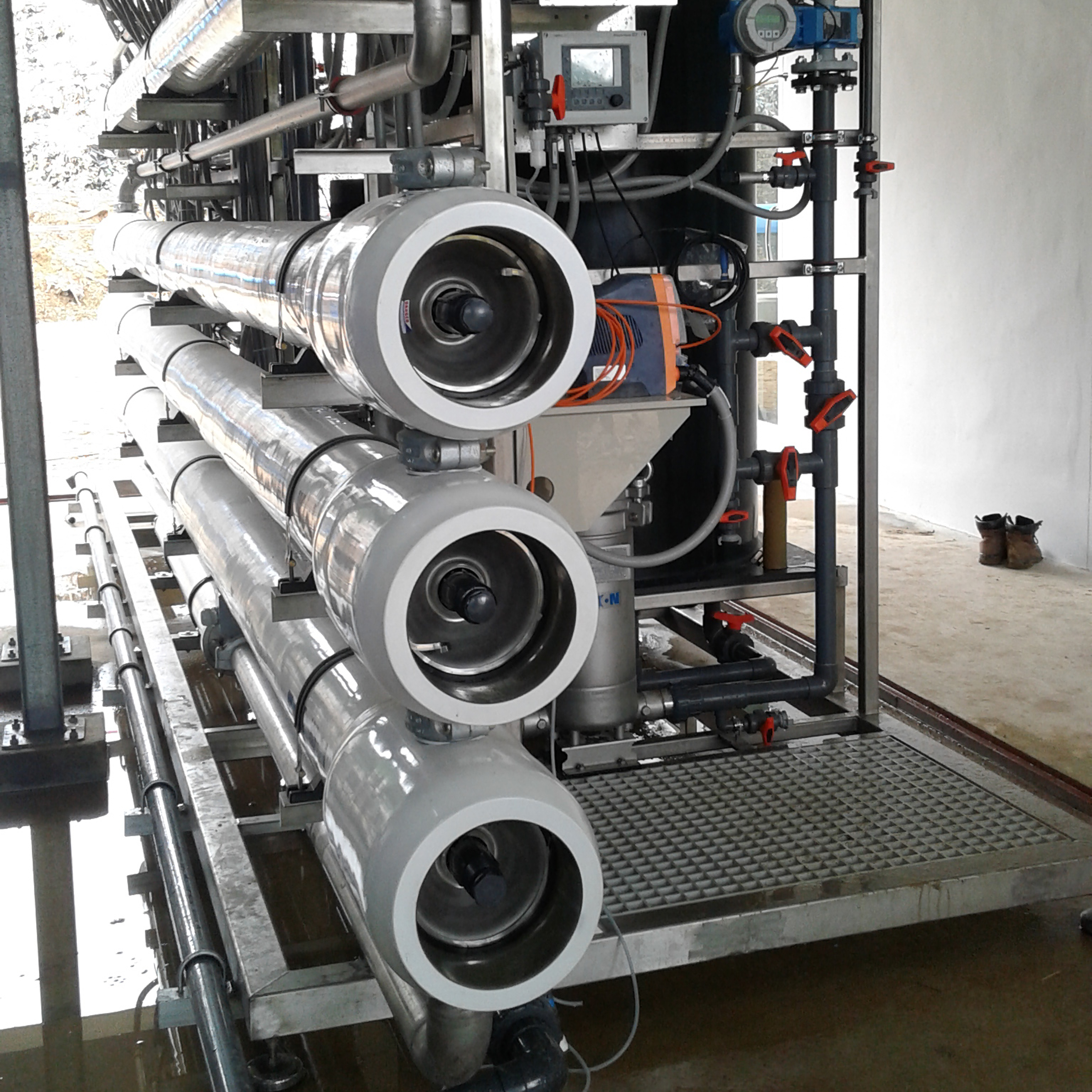 compact reverse osmosis leachate plant made by WEHRLE