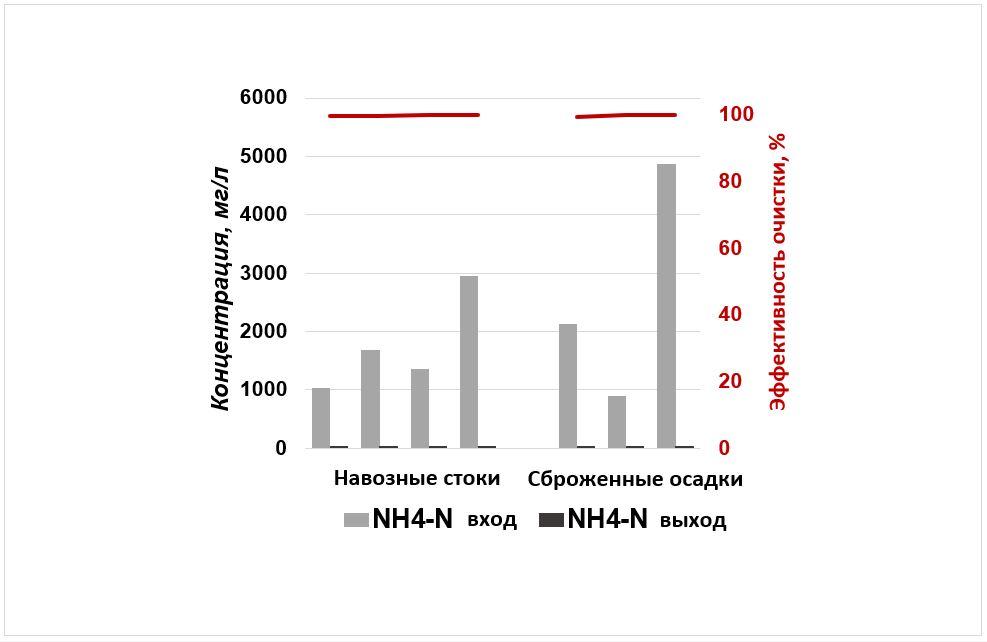 WEHRLE очистка навозных стоков и дигестата: Рисунок 1: Биологическое удаление органики (ХПК) посредством  Мембранного биореактора на различных очистных сооружениях