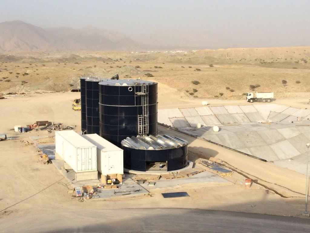 WEHRLE waste management - leachate treatment plant of WEHRLE in the desert of Muscat, Oman