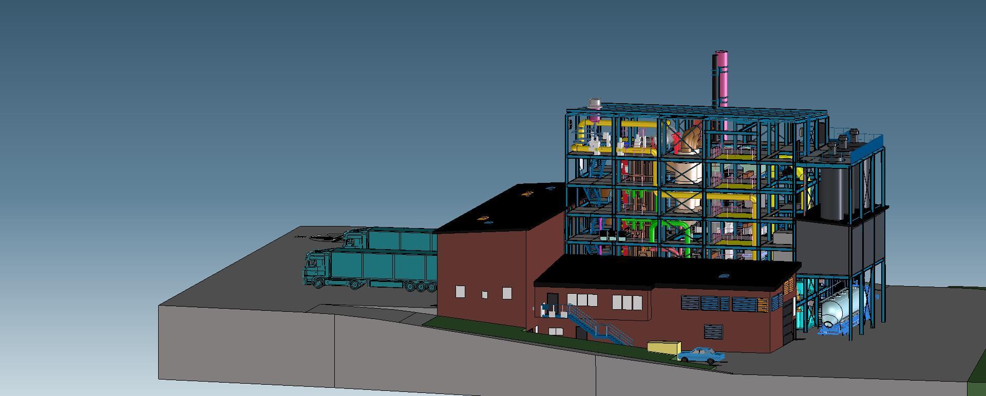 Klärschlammverbrennung mit WEHRLE K³ Wirbelschichttechnologie - dezentrale Kleinanlagen K³