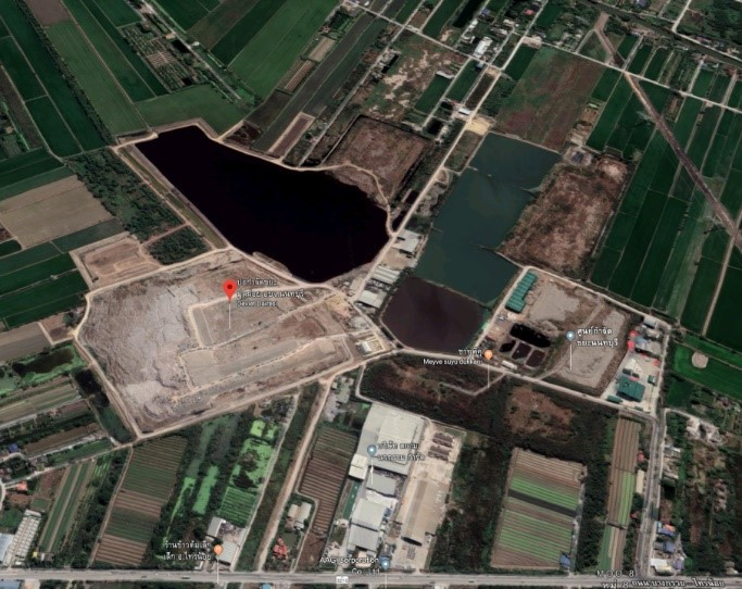 Nonthaburi Landfill leachate treatment (Source: Google maps)