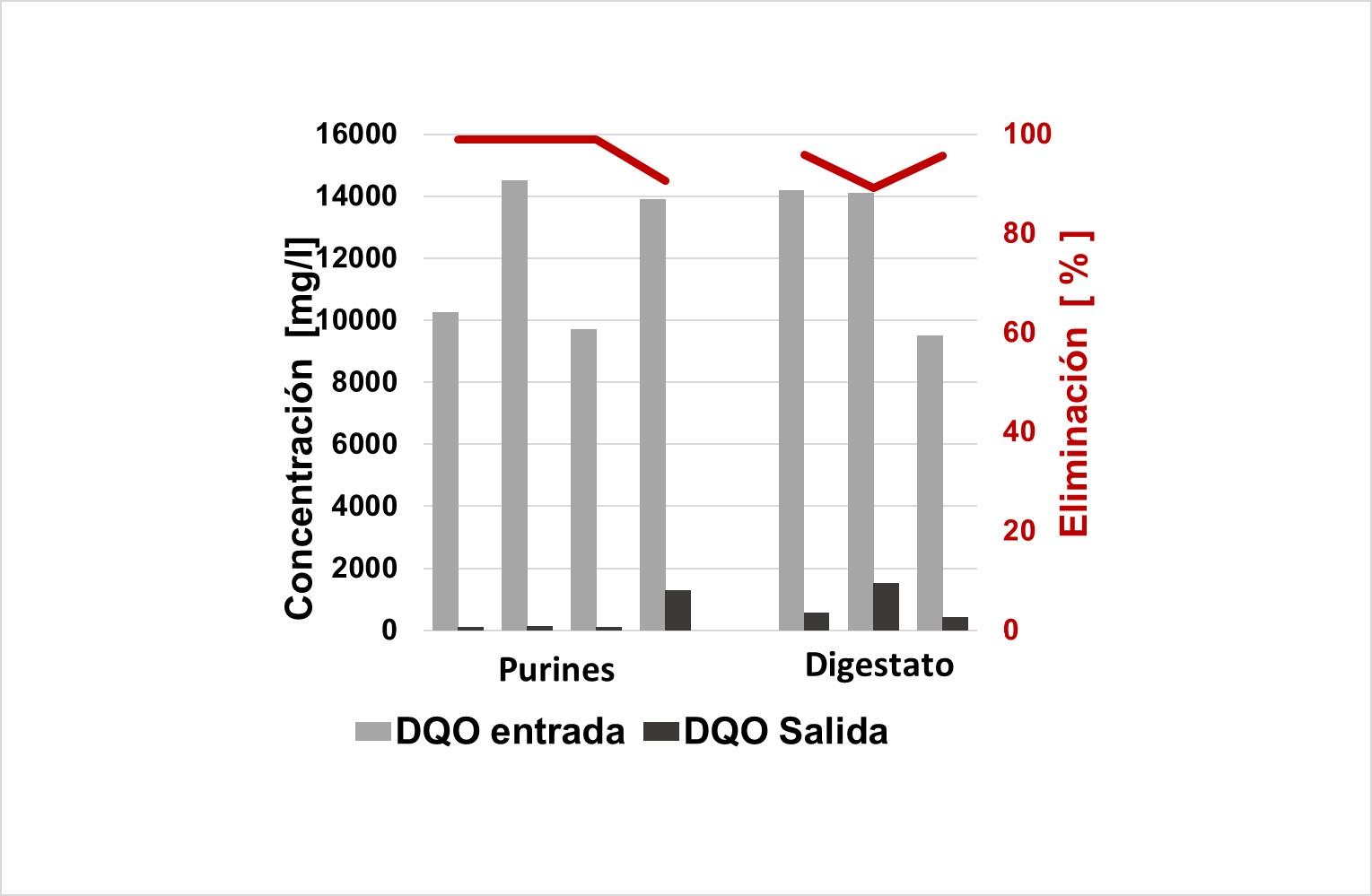 WEHRLE - tratamiento de purines y digestato - materia orgánica (DQO) en procesos MBR de differentes plantas