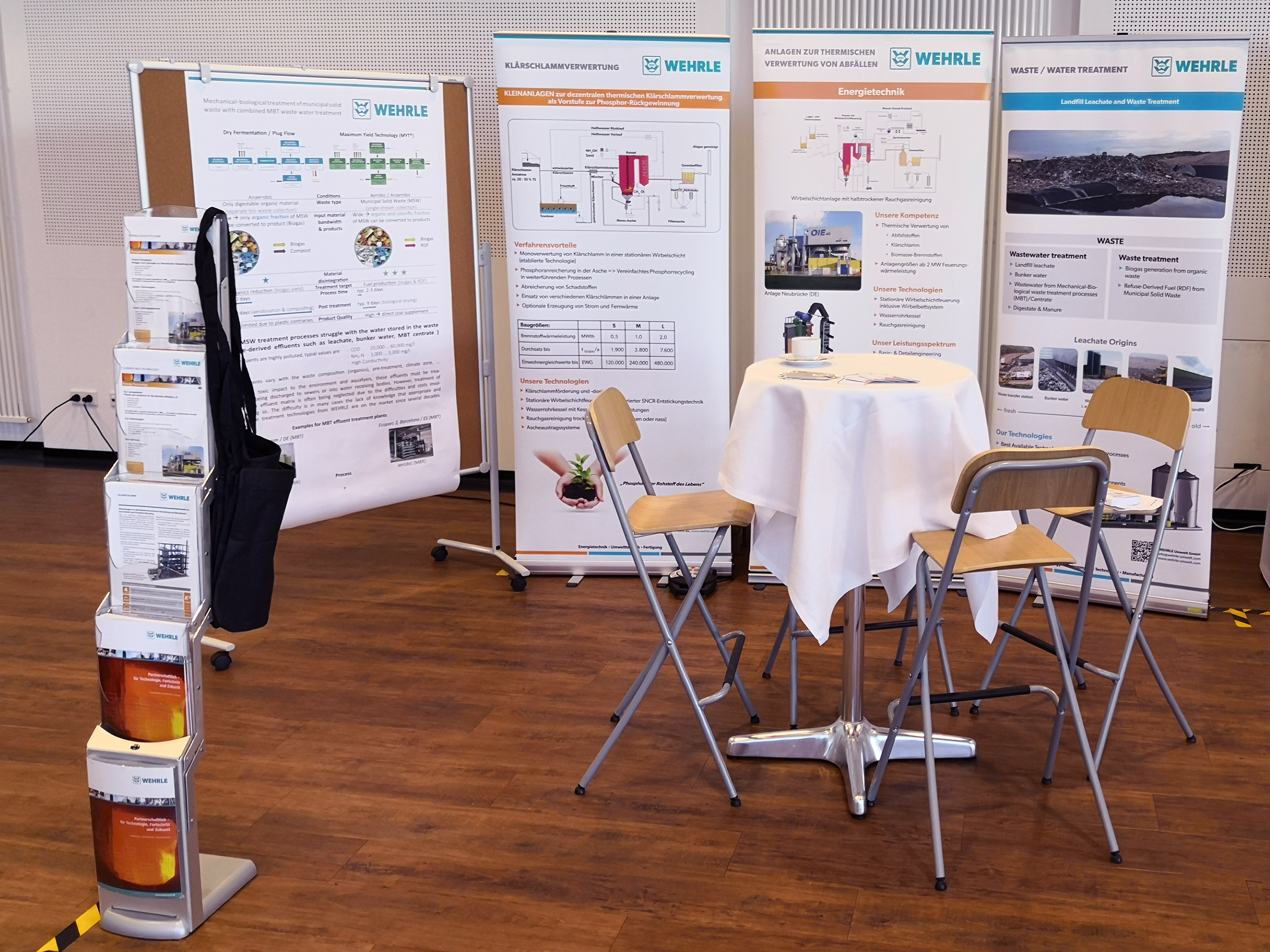 WEHRLE Messestand Waste-to-Resources in Hannover 2019