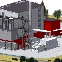 3D Ansicht 1 © Rückert NatUrGas GmbH - WEHRLE Klärschlammverbrennung