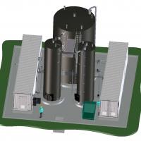 Concept Traitement du lisier de porc par un BRM BIOMEMBRAT® en conteneur