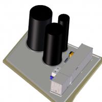 3D Modell des Hochleistungs-Membran-Bioreaktor (MBR) aus der BIOMEMBRAT®-Familie für die Anlage in Zadar, Kroatien