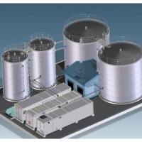 Concept pour le traitement du lisier de porc par un BRM BIOMEMBRAT® en conteneur