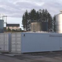 MBR en contenedor para el tratamiento de aguas residuales de destilería
