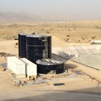 WEHRLE-Sickerwasserbehandlung in der Wüste bei Muscat, Oman