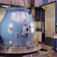 Carousel lathe - mechanical processing