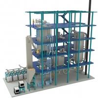 Klärschlammentsorgung: Klärschlammverbrennung - Modell einer Kleinanlage mit 1 MWth