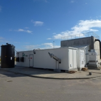 Behandlung von Sickerwasser, Stary Las, Polen - BIOMEMBRAT® Container-MBR