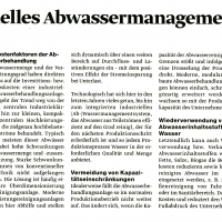 modernes industrielles Abwassermanagement