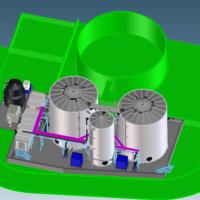 WEHRLE - Проектируемые очистные сооружения фильтрата полигона ТКО в Marston Vale, Великобритания (зелёным цветом обозначены существующие сооружения)