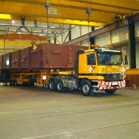 WEHRLE Kesselbau - Transport der vorderen Brennkammerhälfte