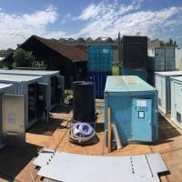 WEHRLE-Freilager mit Hochleistungsabwasserbehandlungsanlagen in Containerbauweise