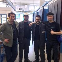 v.l.n.r.: Adem Yanik (Ausbilder Schweißtechnik), Leo Ackermann, Manuel Schieß und Alicem Sa-hin