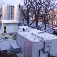 Compact waste water treatment plant in the in the food industry with BIOMEMBRAT®
