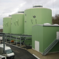 WEHRLE anaerobic pre-treatment of MBA-effluent, landfill Kahlenberg, Germany