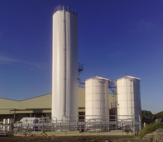 WEHRLE: Réacteur BIODIGAT® SB (« EGSB » en anglais : Expanded Granular Sludge Bed)