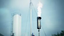 Erzeugung von Biogas nach anaerober Abwasserbehandlung mit BIODIGAT