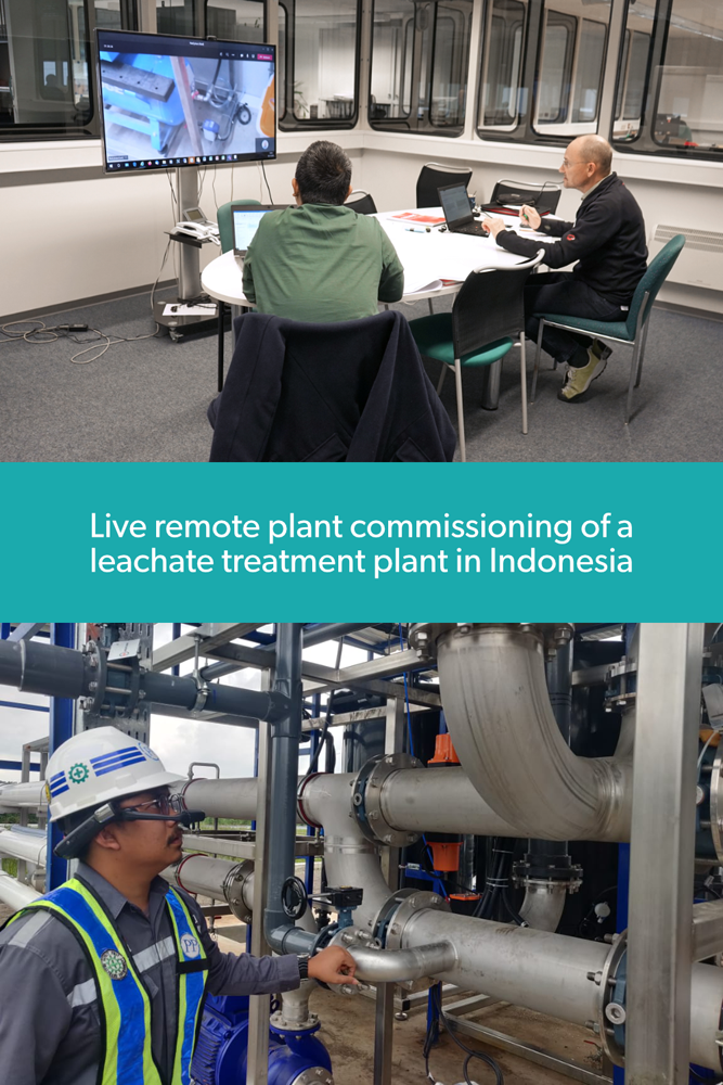 Virtual remote commissioning of wastewater treatment plants in Indonesia - WEHRLE