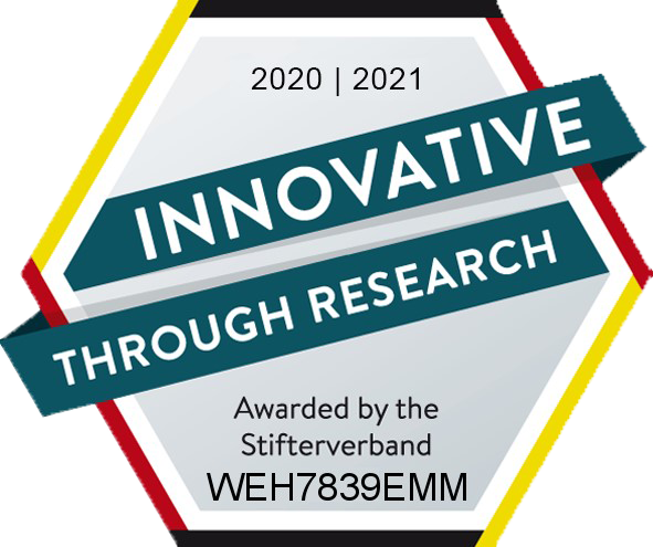 "WEHRLE-WERK AG and WEHRLE Umwelt GmbH recveive the ""innovative through research"" seal"